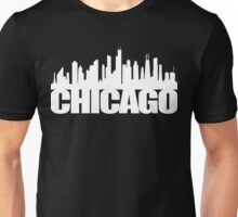 Chicago Skyline - white Unisex T-Shirt