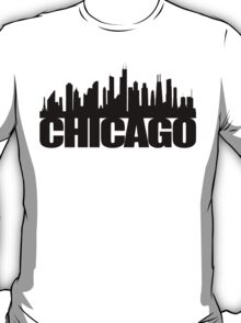 Chicago Skyline - black T-Shirt
