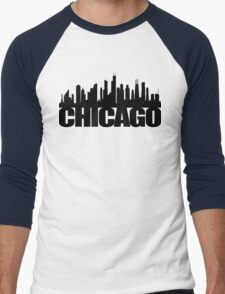 Chicago Skyline - black Men's Baseball ¾ T-Shirt