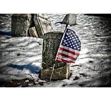 Ragged Old Flag Photographic Print