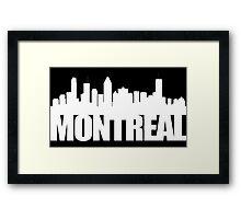 Montreal Skyline - white Framed Print