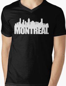 Montreal Skyline - white Mens V-Neck T-Shirt