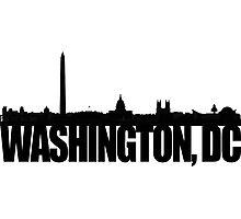 DC Skyline - black Photographic Print