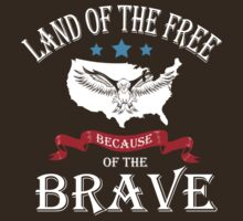 Land of the free because of the brave by Ryan Jay Cruz