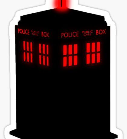 Evil TARDIS Sticker