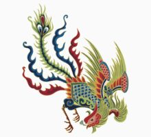 Chinese Rooster Asian Art T-Shirt