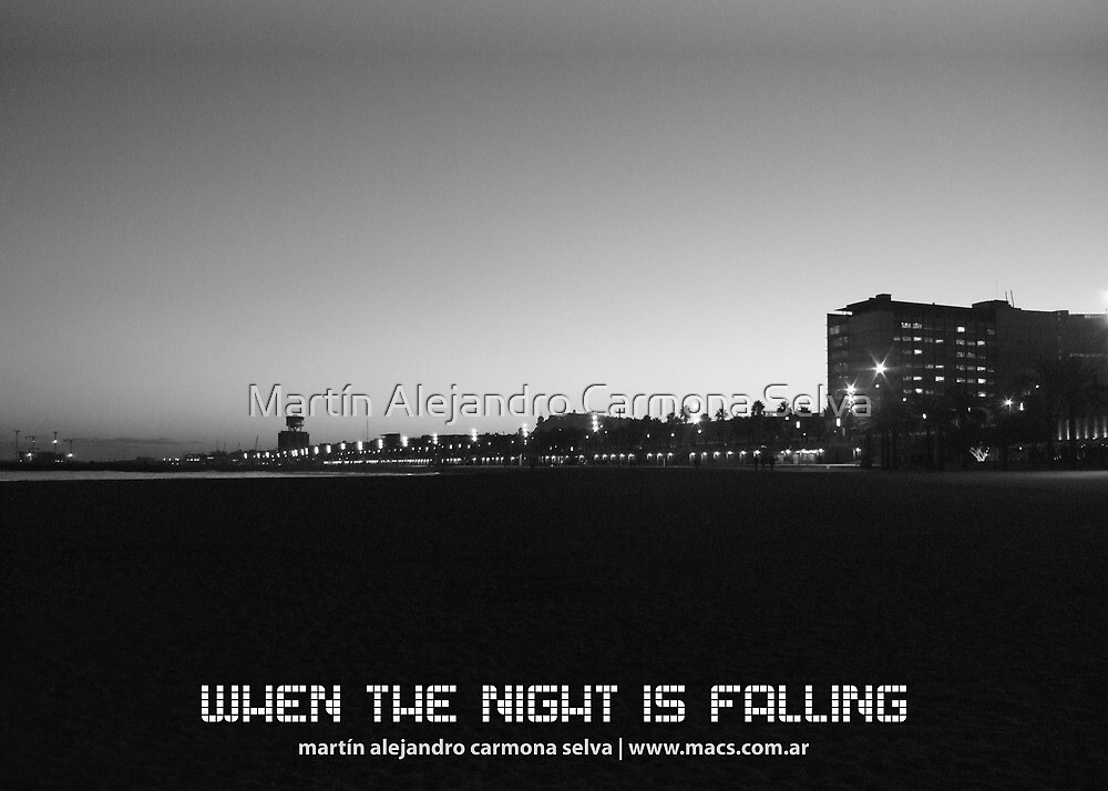 When The Night Is Falling by Martín Alejandro Carmona Selva