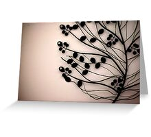 metallic flower landscape Greeting Card