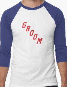 Blue Shirt Groom Men's Baseball ¾ T-Shirt