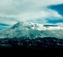 Cloud covered mountain by XanthicAmber