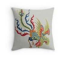 Chinese Rooster Asian Art Throw Pillow
