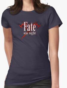 Fate/Stay Night Logo Womens Fitted T-Shirt