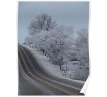 Frosty Idaho Road Poster