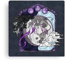 Mew & Mewtwo Canvas Print