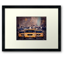 5th Avenue Cabs Framed Print
