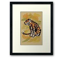Tiger Ink Framed Print