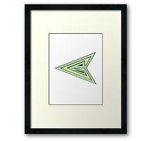Green Arrow Symbol Framed Print