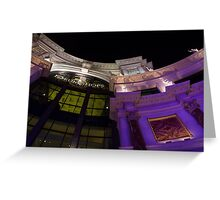 Another View of the Forum Shops Glamorous Entrance at Night Greeting Card