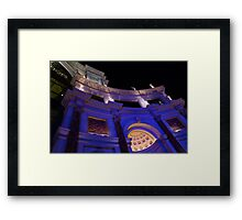 The Forum Shops Glamorous Entrance at Night Framed Print