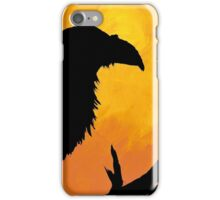 Raven against sunset iPhone Case/Skin