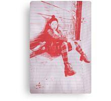 """Punk Rock Girl"" Canvas Print"