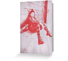 """Punk Rock Girl"" Greeting Card"