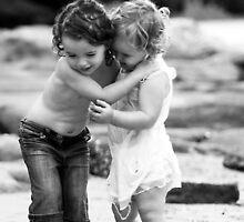 Sisters Embrace - Darook Beach, Cronulla by Jackie Hewett