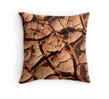 Mud Patterns2 Throw Pillow