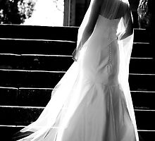 Beautiful Bride in B&W by Jackie Hewett