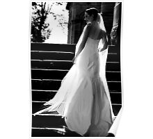 Beautiful Bride in B&W Poster