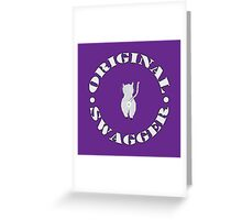 Original Swagger (Purple) Greeting Card