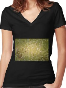 Soft Colours Women's Fitted V-Neck T-Shirt