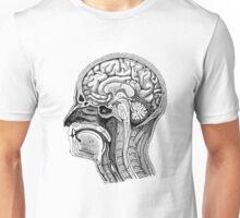 Anatomical Brain Drawing Unisex T-Shirt