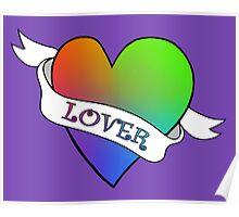 Lover's Heart (Purple) Poster