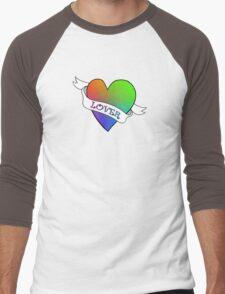 Lover's Heart (Purple) Men's Baseball ¾ T-Shirt