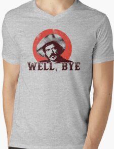 Well Bye in black stencil Mens V-Neck T-Shirt