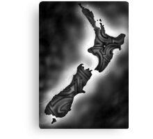 New Zealand-Street Side Canvas Print