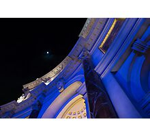 Moon at the Forum Photographic Print