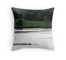 Sculling on the Potomac Throw Pillow