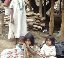 Indigenous Colombian children  by Anita Dyer