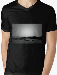 Black and White Beach  Mens V-Neck T-Shirt