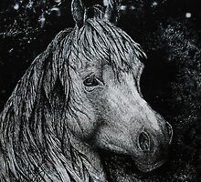 Horse-Pen and Ink by Julie Ann Caldwell