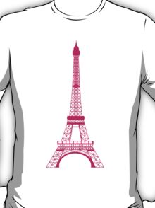Hot Pink Eiffel Tower T-Shirt