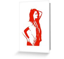 Stana Monochrome Greeting Card