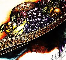 Hat with Fruit by Julie Ann Caldwell