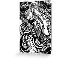 Abstracted Mermaid #2 – February 23, 2010  Greeting Card