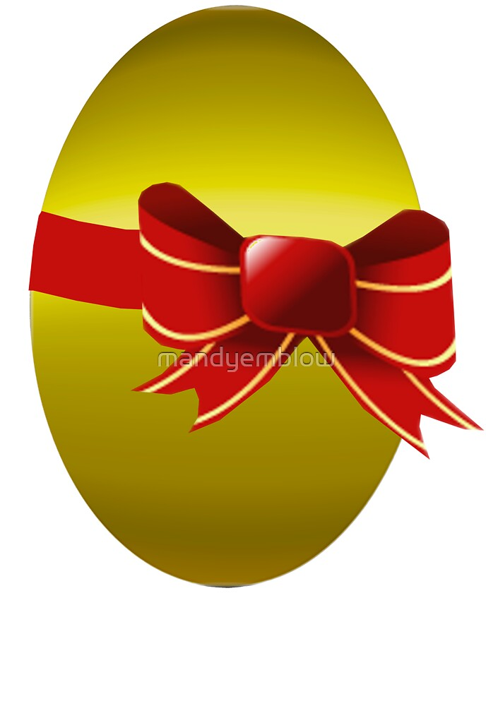 Gold Easter Egg Just 4 You  by mandyemblow