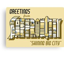 Greetings from Saffron City Canvas Print