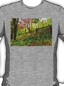 Fresh and Colorful Hillside - Impressions Of Spring T-Shirt