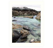 Starfish pool - west coast, Eyre Peninsula Art Print